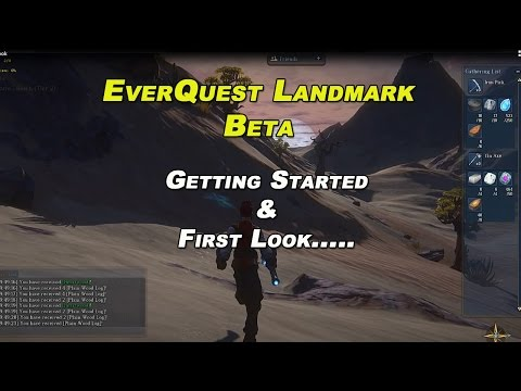 EverQuest Next Landmark – Getting Started, First Look Beta Gameplay