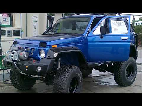 GREECE LADA NIVA EXTREME-transformation a MERCEDES to NIVA
