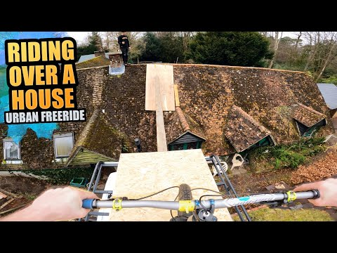 RIDING OUR ENDURO BIKES OVER A HOUSE AND URBAN MTB FREERIDE LINES!