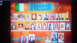 Commentators introduce Team Ireland. Luck of the Irish!