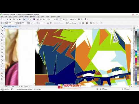 Tutorial WPAP Corel Draw X7 - Wedha Abdul Rasyid By Abby Baok