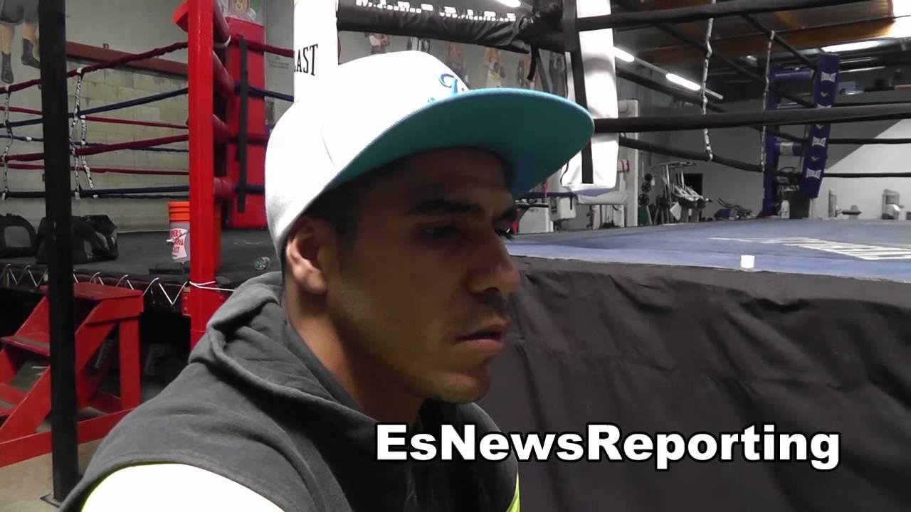Jesus Cuellar getting ready for rico ramos EsNews Boxing