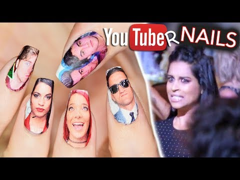 I put YouTubers on my nails and they all saw
