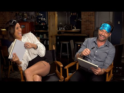 'Private Eyes' Stars Jason Priestley vs. Cindy Sampson in 'Blindfolded Drawing!'