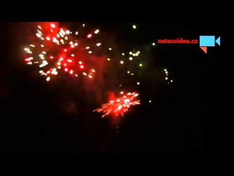 Novoroční ohňostroj ve Vyškově - 2015
