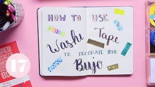 Video Washi Tape Hacks for Your Bullet Journal | Plan With Me MP3, 3GP, MP4, WEBM, AVI, FLV Juli 2018