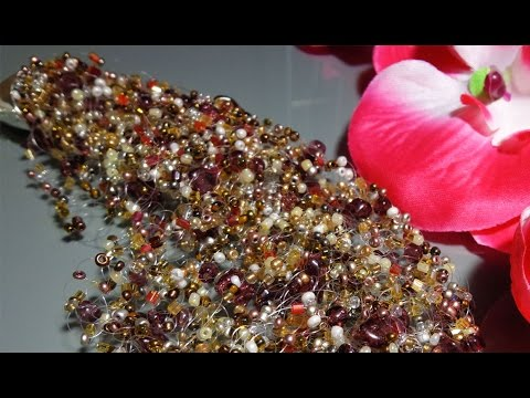 Video Tutorial: Air beaded necklace