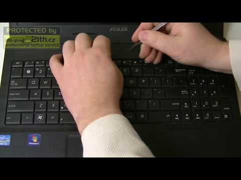 How To Replace Or Remove Keyboard On Asus X54h, Keyboard Replacement