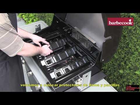 Barbacoa de gas Barbecook Brahma papel aluminio para limpieza rápida