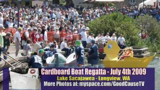 Cardboard Boat Regatta July 4th 2009 - Longview, WA For Good Causes Show