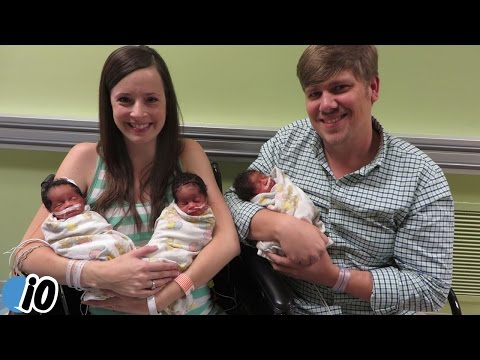 White Couple Give Birth To Black Triplets