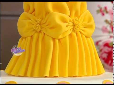 Mirta Biscardi - Bienvenidas TV - Decora una Torta de Princesa