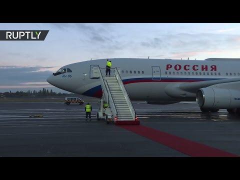 Прилет Путина в Берлин на встречу нормандской четверки