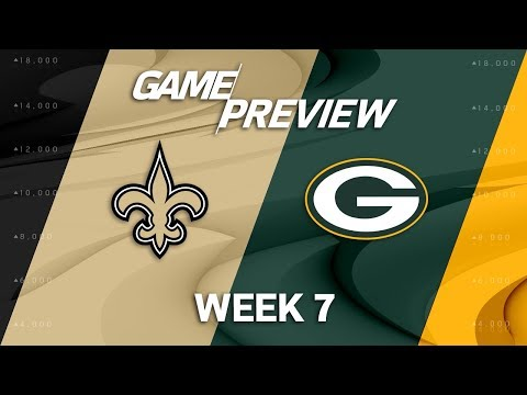 Video: New Orleans Saints vs. Green Bay Packers | Week 7 Game Preview | NFL Playbook