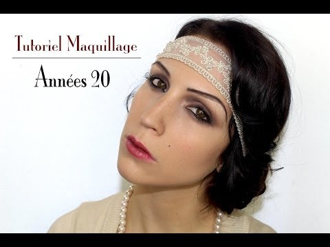 Maquillage années 20/Gatsby (+coiffure et costume)