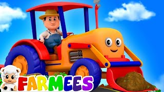 Tractors Wheels Go Round And Round | Cartoons For Kids | Nursery Rhymes For Babies By Farmees