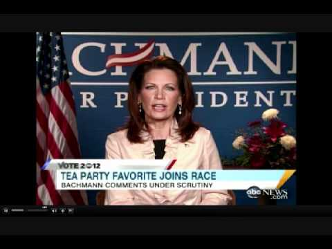 "Bachmann Spars with Stephanopoulos over whether John Quincy Adams was a ""Founding Father"""
