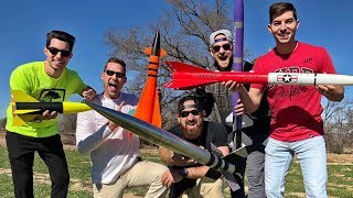 Video Model Rocket Battle | Dude Perfect MP3, 3GP, MP4, WEBM, AVI, FLV Mei 2019