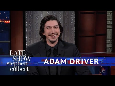 Adam Driver And Stephen Act Out A 'Star Wars' Scene