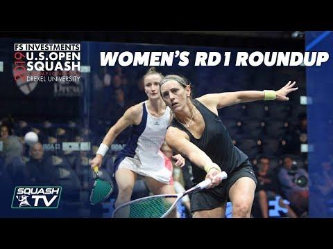Squash: U.S. Open 2019 - Women's Rd 1 Roundup