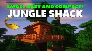 Minecraft: How To Build A Tree House Tutorial ( Jungle Shack ) EASY