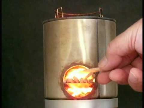 小型rocket stoveプロトタイプの火入れテスト