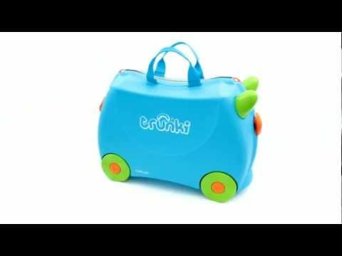 Детский дорожный чемоданчик TRUNKI TERRANCE (голубой)