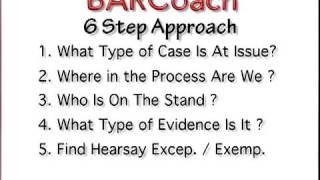 BAR EXAM 6 Step EVIDENCE Approach For MBE