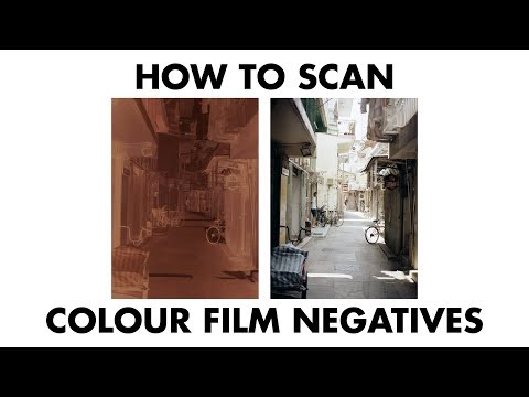 How To Scan Colour Film Negatives