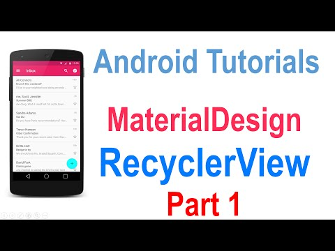 225 Android RecyclerView Tutorial Part 1 |