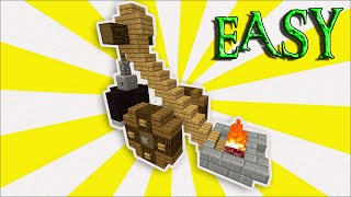 Minecraft Medieval Tutorial: How To Build A Catapult | Survival Tutorial | Easy