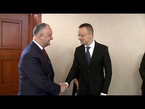 Președintele Republicii Moldova a avut o întrevedere cu Ministrul Afacerilor Externe şi Comerţului al Ungariei