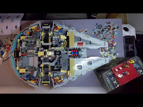 TimeLapse Video Building the 7541Piece LEGO Millennium