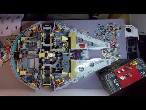 TimeLapse Video Building the 7541Piece LEGO Millennium