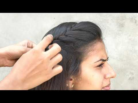 Hairstyle In 1 Minute  Quick Hair Updos  Side Braid Hairstyles