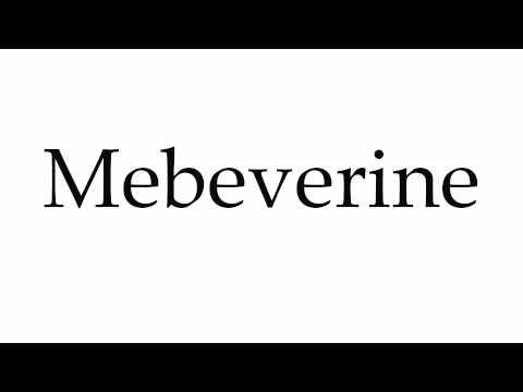 How to Pronounce Mebeverine