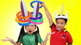 Video Emma Pretend Play Learn Colors w/ Fun Colored Inflatable Kids Toys MP3, 3GP, MP4, WEBM, AVI, FLV Juni 2019