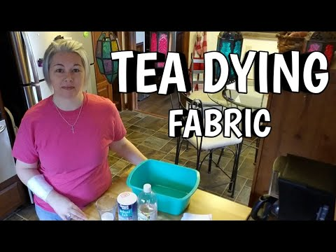 Tea Dying Fabric - How I achieve a vintage antiqued fabric look  in my quilts