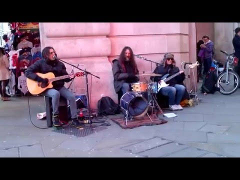 Funfiction: London street band Funfiction play I Can  ...
