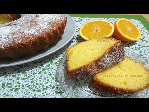 video ricetta: squisita ciambella all'arancia.