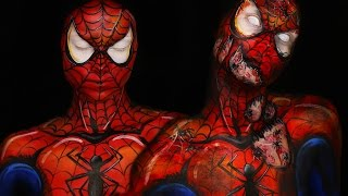 INFESTED Spiderman & Comic Spiderman Makeup Tutorial by Madeyewlook
