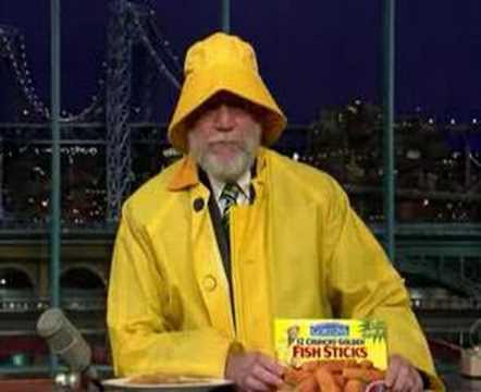 Dave Letterman fishsticks commercial