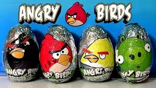 Angry Birds Surprise Eggs With Chocolate Egg By DisneyCollector Red Bird Bad Piggies Huevos