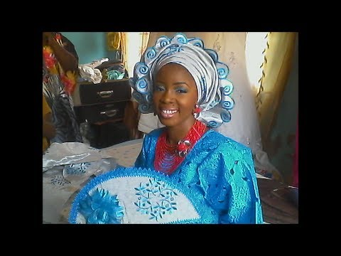 How to do makeup & gele for nigerian wedding:Lola's Bridal Makeover