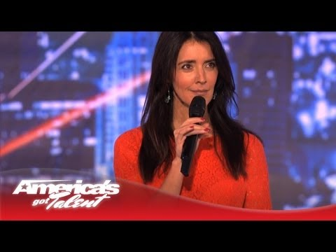 Angela Hoover Impersonates Hollywood Celeb Moms - America's Got Talent