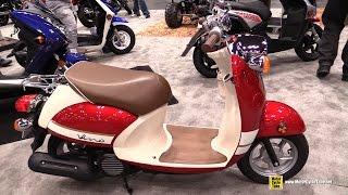 10. 2015 Yamaha Vino Classic 50cc Scooter - Walkaround - 2014 New York Motorcycle Show