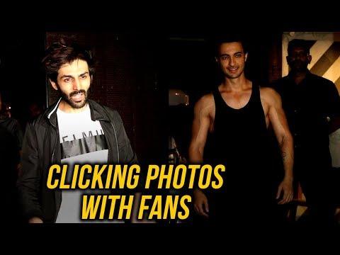 Kartik Aaryan, Aayush Sharma SWEET GESTURE With Fa