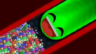 Slither.io 1 Troll Giant Snake vs 97779 Tiny Snakes Epic Slitherio Gameplay!