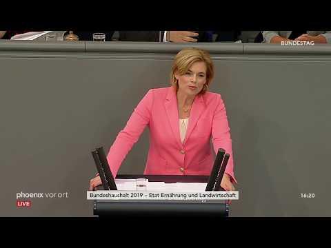 Rede von Julia Klöckner zum Etat für Ernährung und  ...