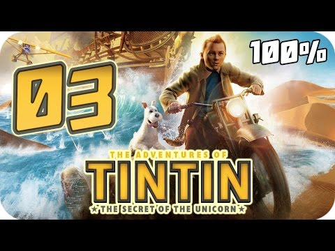 The Adventures of Tintin: The Game Walkthrough Part 3 (PS3, X360, Wii) 100% Movie Chapter 11 to 14